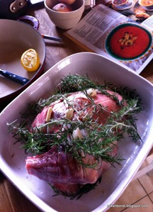 lamb shoulder - before