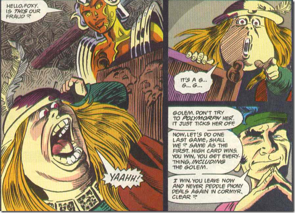 Golem beats leprechaun!