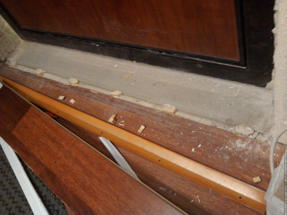 Как сделать порог входной двери в квартире - пошаговая инстр.
