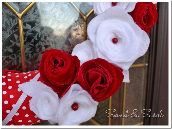 Felt flowers Velvet Roses