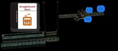 Track ML04 Elevator extension StraightSwitchShort (Wonderplein) lassoares-rct3