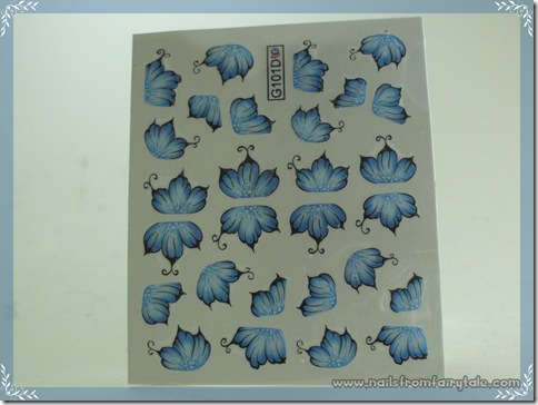 water decals flower