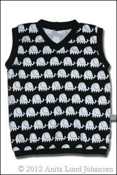 Vest med elefanter 92