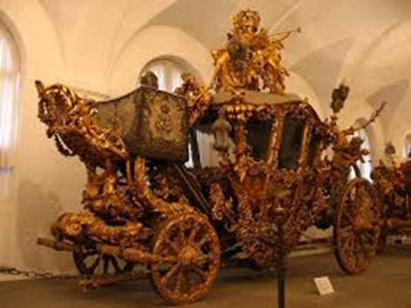 Carroza del rey Ludwig II de Baviera, restaurada en 1871