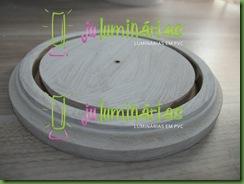 Base em MDF para  luminria em PVC 100mm