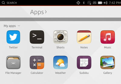 Ubuntu touch dash