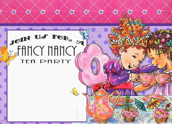 Free Fancy Nancy Birthday Party Invitation Template