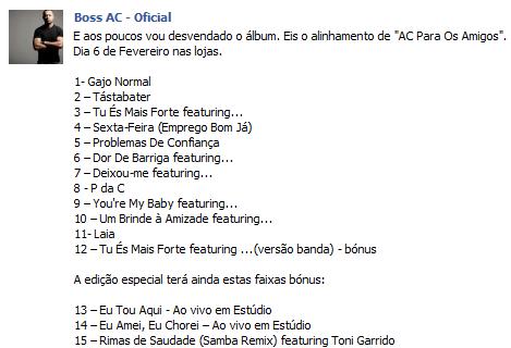 Boss Ac - AC Pros Amigos