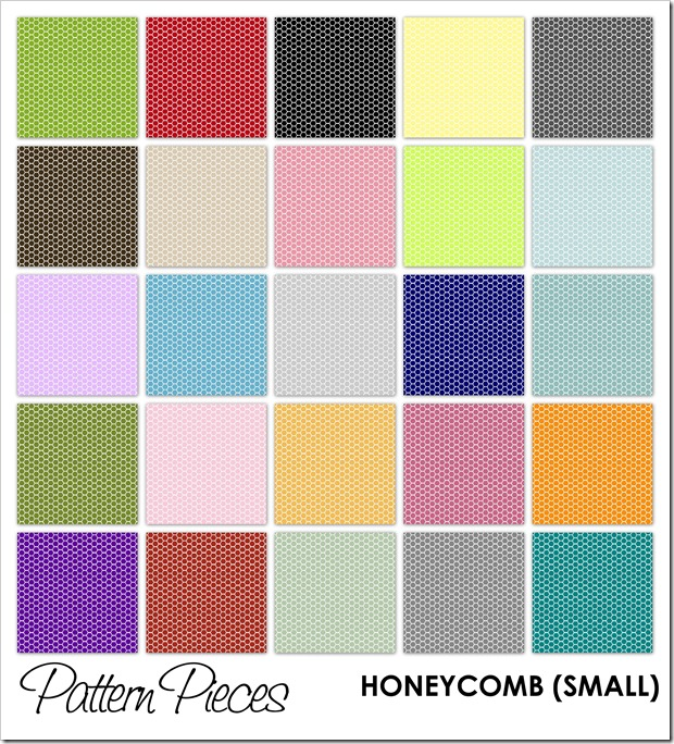 IMAGE - Pattern Pieces - Honeycomb (Small)