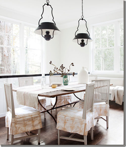 white breakfast room