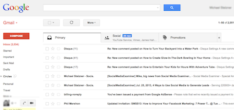 New Gmail Tabs