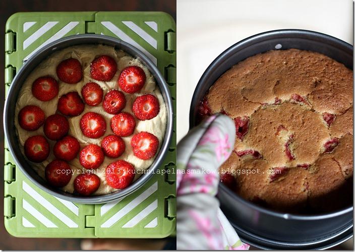 BARDZO SZYBKIE ciasto z truskawkami