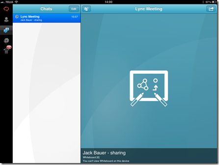 Lync ipad 3