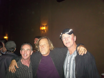 Brad, Stacy Peralta and Brian at the La Paloma Theatre during the Bones Brigade movie in 2012.
