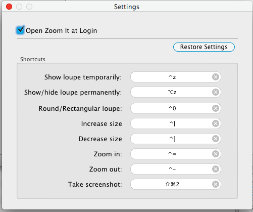Change Zoom it settings