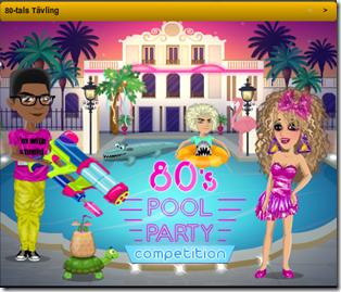 80-tal poolparty-tävling