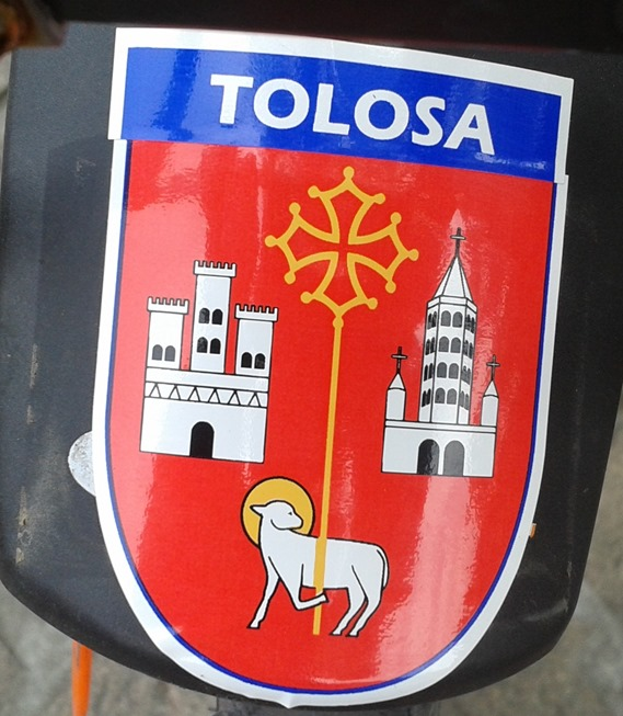 Tolosa Garona escut tolzan oficial en occitan