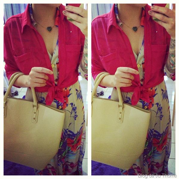 look vestido longo floral com camisa pink e maxi bolsa (2)