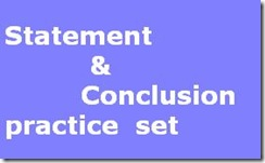 Statement and Conclusion practice for SBI PO