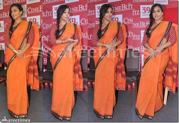 Vidya_Balan_Peach_Saree