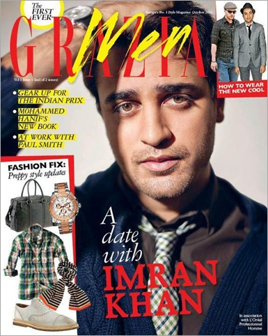 Imran Khan on the coverpage of Grazia men Magazine