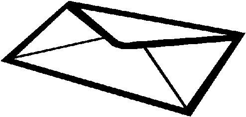 Sobre de carta para colorear - Imagui