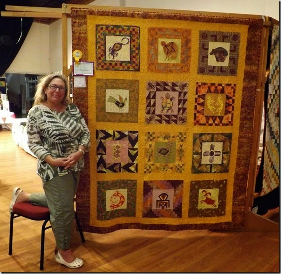 Riki Going winner Best Use of Colour  Large Quilt