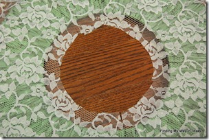 lace, mint, wicker wreath 007-001