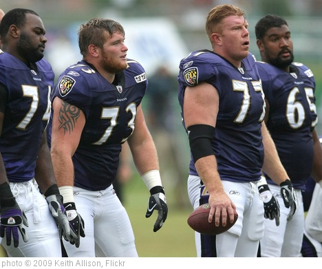 'Baltimore Ravens Offensive Line' photo (c) 2009, Keith Allison - license: http://creativecommons.org/licenses/by-sa/2.0/