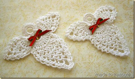 crochet white angels