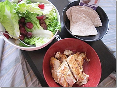 salad, tortilla and grilled chicken, 240baon