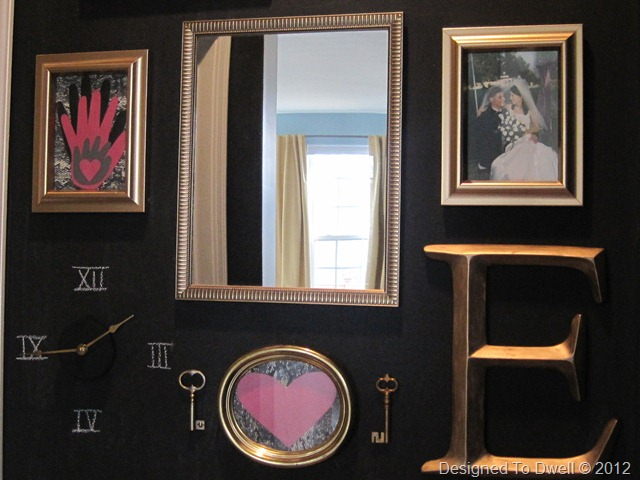 Designed To Dwell: Black & Gold Chalkboard Gallery Wall