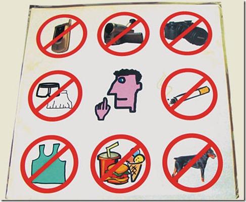 Знаки запрещающие что либо делать