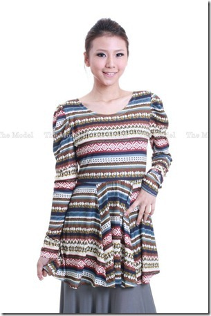 peplum tribal green