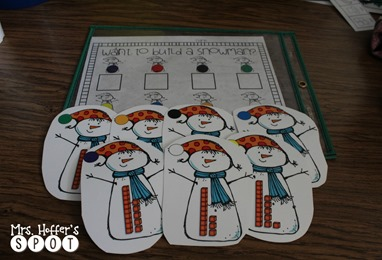 """Want to Build a Snowman"" is a big hit with my Kinderroos! They draw a card, and count the ten rods, write on the response sheet."