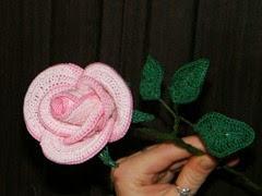 Horgolt rózsa1