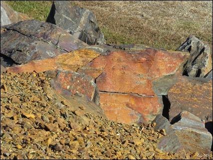 rocks along Lake Chatuge Damn