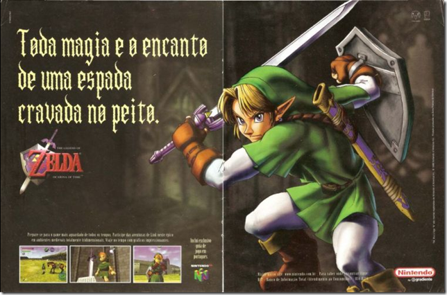 propagando do zelda n64