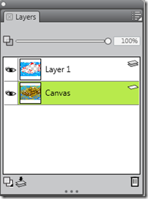 The Corel Painter Lite's Layer Palette