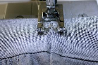 sew elastic in place