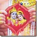 Sita and Rama in Hanuman's heart