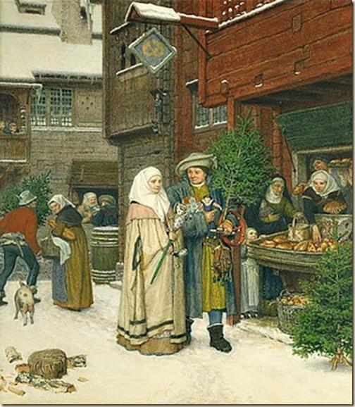 Georg von Rosen Le marche de Noel 1872