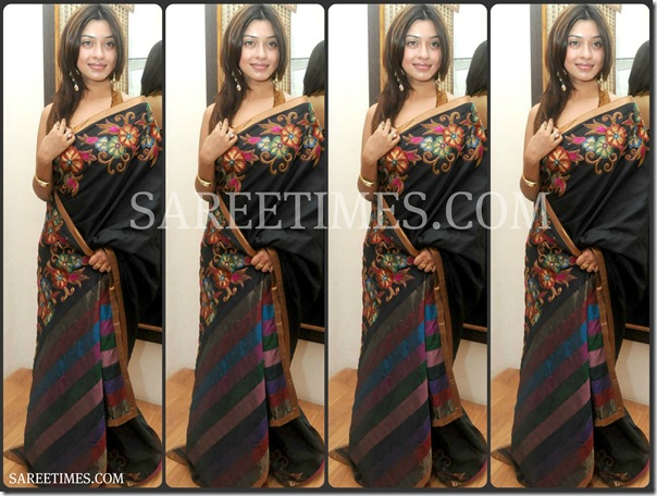 Harika_Payal_Black_Saree