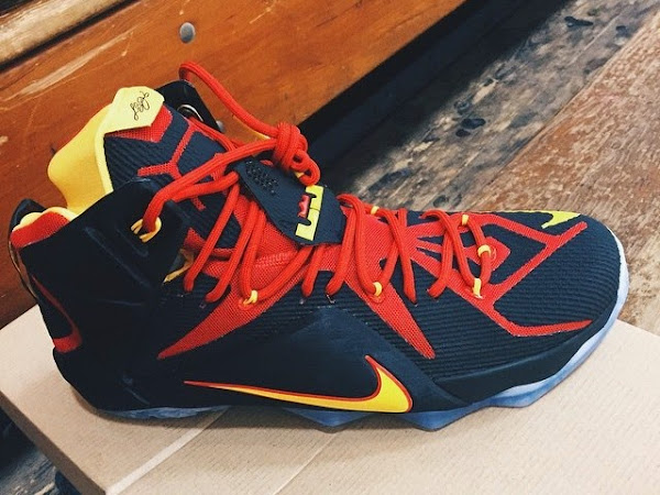 First Look at Nike LeBron XII 12 Fairfax Lions Away PE