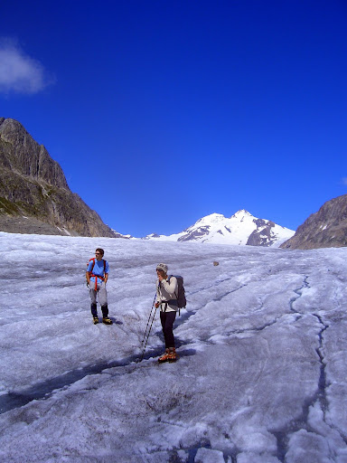Peter and Jacob on the Aletsch Glacier