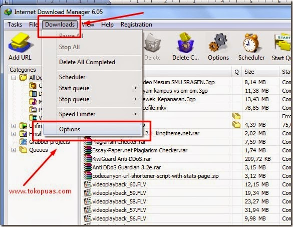 cara mengatur proxy di internet download manager
