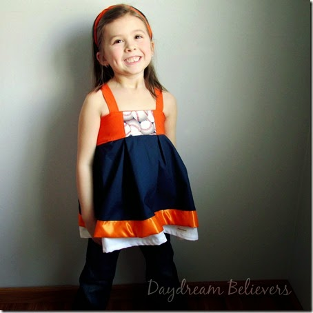 What to wear to the baseball game? Girls Detroit Tigers Spirit Tops are now available from Daydream Believers Designs. Handmade in Michigan
