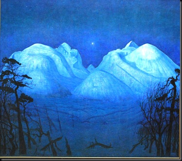 2012-02-19 Winters Night in Rondane -Harald Sohlberg