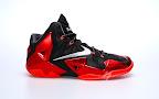 nike lebron 11 gr black red 2 01 New Photos // Nike LeBron XI Miami Heat (616175 001)