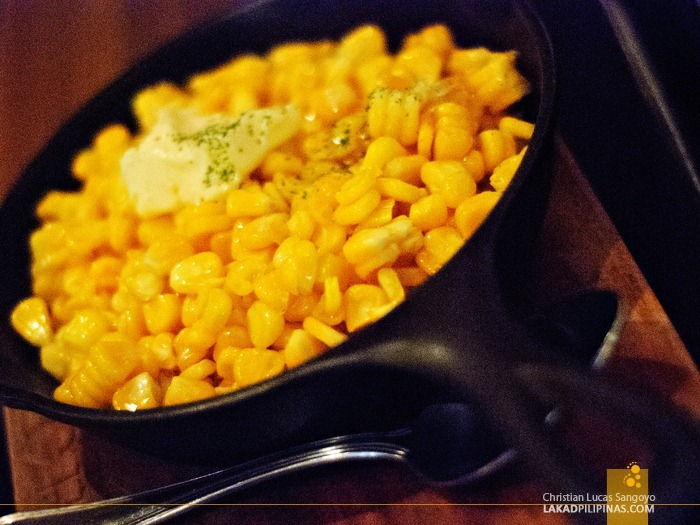 Skillet Buttered Corn at Chops Chicago Steakhouse